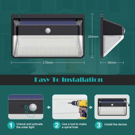 Venkovní solární LED světlo se senzorem M108