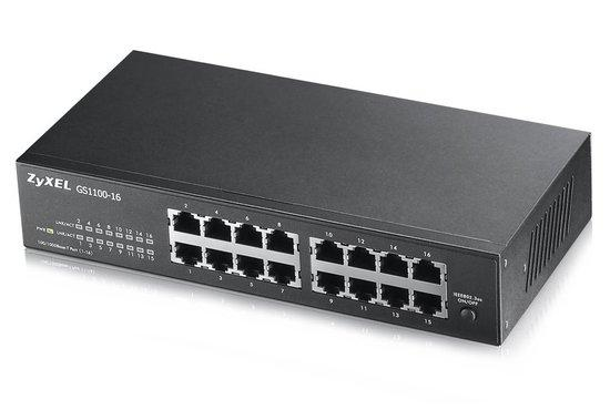 Zyxel GS1100-16  16 port Gigabit Unmanaged Switch v2, GS1100-16-EU0102F