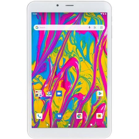 "Dotykový tablet Umax VisionBook T8 3G 8"", 16 GB, WF, BT, 3G, GPS, Android Go - stříbrný/bílý"
