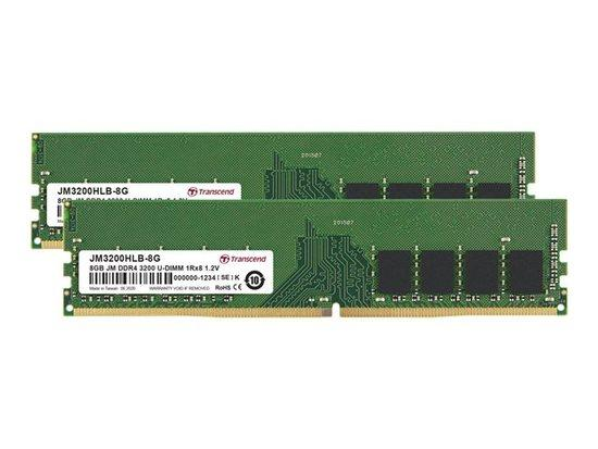 Transcend paměť 16GB DDR4 3200 U-DIMM (JetRam) KIT (2x8GB) 1Rx8 CL22, JM3200HLB-16GK