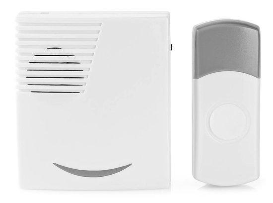 NEDIS sada bezdrátového domovního zvonku/ napájení na baterii/ 36 melodií/ dosah 300 m/ 80 dB/ bílý