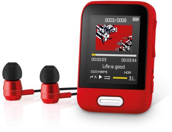 SENCOR SFP 7716 RD 16GB MP3/MP4 PLAYER