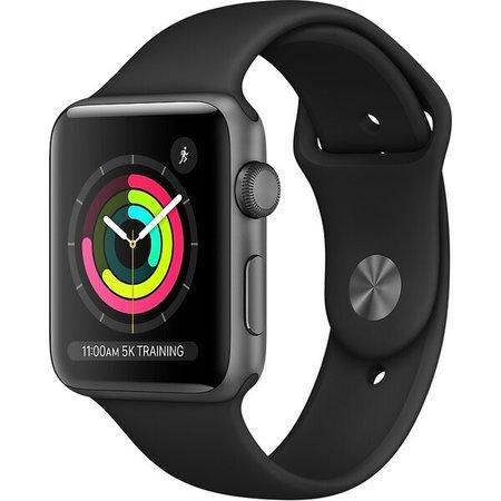 Apple Watch Series 3 42mm vesmírně šedý hliník s černým sportovním řemínkem