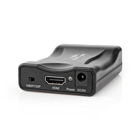 Nedis VCON3462BK - Převodník SCART na HDMI™   Jednosměrný - SCART Vstup   HDMI™ Výstup