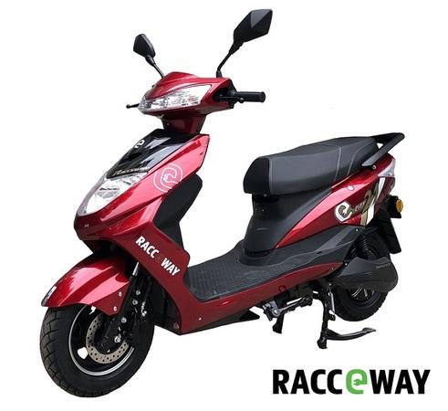 Elektrický motocykl RACCEWAY CITY 21, červený + držák zdarma