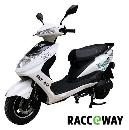 Elektrický motocykl RACCEWAY CITY 21, bílý + držák zdarma