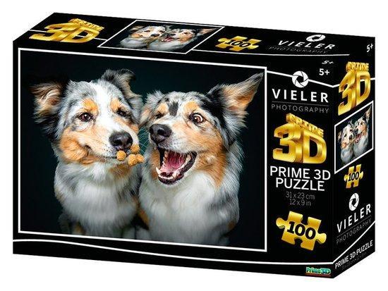 PRIME 3D Puzzle Psí radost 3D 100 dílků