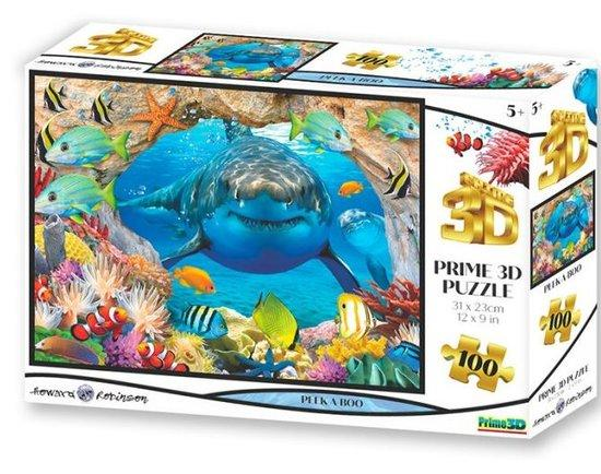 PRIME 3D Puzzle Žraločí schovávaná 3D 100 dílků