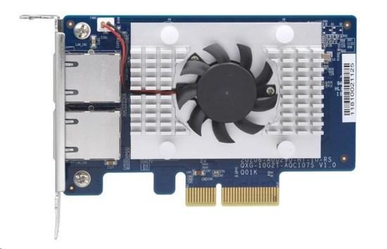 QNAP QXG-10G2T-107 Síťová rozšiřující karta pětirychlostní sítě 10 GbE, dvouportová 10GBASE-T, QXG-10G2T-107