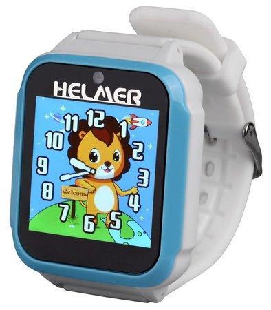 """HELMER dětské chytré hodinky KW 801/ 1.54"""" TFT/ dotykový display/ foto/ video/ 6 her/ micro SD/ čeština/ modro-bílé"""