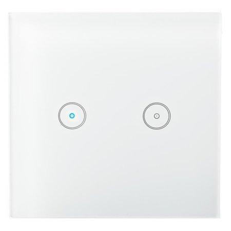 NEDIS Wi-Fi chytrý spínač osvětlení/ dvojitý/ Android/ iOS/ Nedis® SmartLife/ bílý