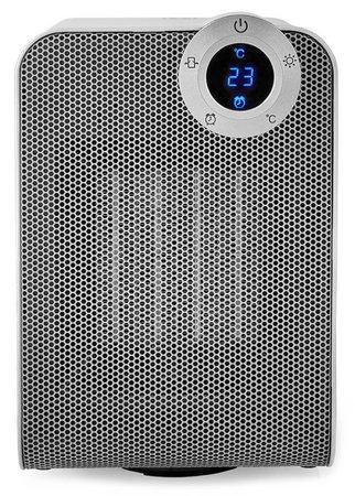 NEDIS Wi-Fi chytrý ventilátor s topným tělesem/ kompaktní/ termostat/ oscilace/ výkon 1800 W/ bílý