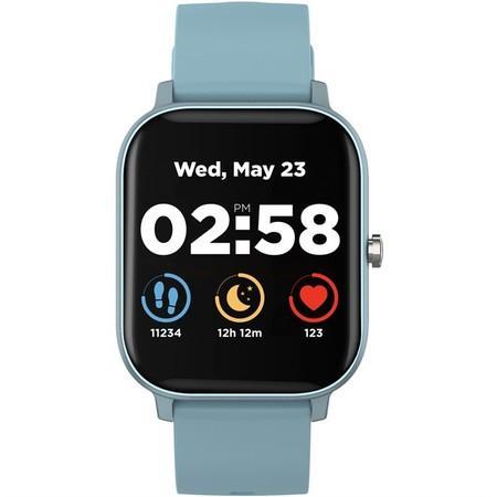 """CANYON chytré hodinky Wildberry, 1,3"""" LCD dotykový displej, IP67, režim Multi-sport, iOS/android, modrá"""