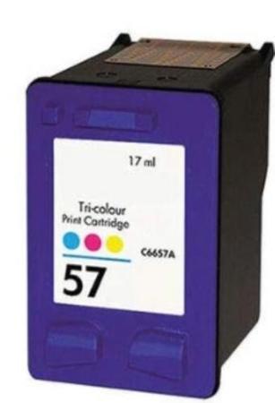 HP C6657AE kompatibilní náplň barevná (color č.57, C6657, C6657A) pro DeskJet 450ci, 5150, 5550, 565x, 96xx, PhotoSmart 7150, 7260, 73xx, 7550, PSC 1350, 21xx, 22xx, 24xx, 25xx, OfficeJet 6110, 4110, 5510, AG-C6657AE