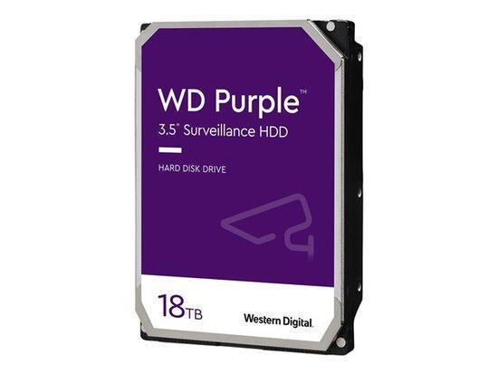 WD Purple 18TB SATA 6Gb/s CE HDD 3.5inch internal 7200Rpm 512MB Cache 24x7 Bulk, WD180PURZ