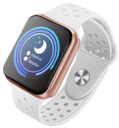 "IMMAX chytré hodinky SW13 PRO/ 1.3"" dotykový TFT LCD/ BT/ IP67/ Android 2.3 / iOS 4.0 a vyšší/ čeština/ bílo-zlaté"