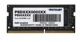 SO-DIMM 4GB DDR4-2666MHz Patriot CL19 512x16
