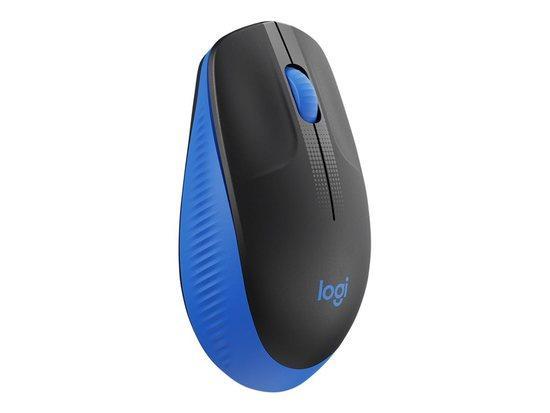 LOGITECH M190 Full-size wireless mouse - BLUE - EMEA, 910-005907