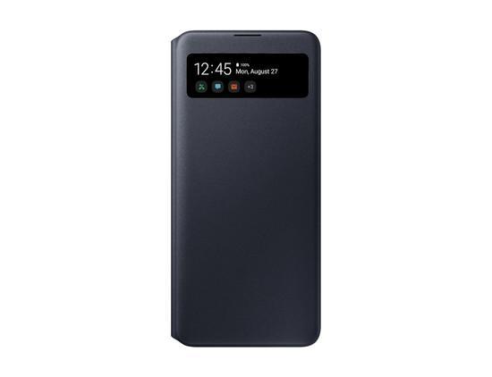 Pouzdro na mobil flipové Samsung S View Wallet Cover pro Galaxy A71 - černé