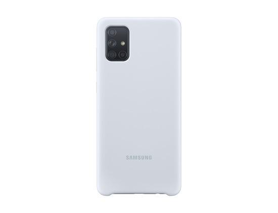 Kryt na mobil Samsung Silicon Cover pro Galaxy A71 - stříbrný