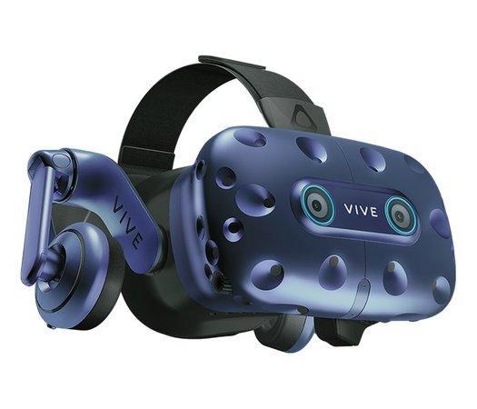 HTC VIVE PRO EYE Brýle pro virtuální realitu/ snímač pohybu očí/ 2x ext. snímače pohybu/ 2x ovládač/ Link box/ kabeláž