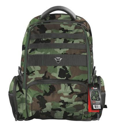 """TRUST GXT 1250G Hunter Gaming Backpack pro 17.3"""" laptopy, zelená kamufláž, 23868"""