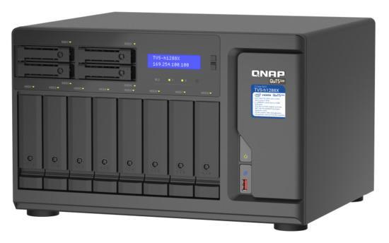 "QNAP TVS-h1288X-W1250-16G (Xeon 3,3GHz, ZFS, 16GB ECC RAM, 8x 3,5""+ 4x 2,5"", 2x M.2 NVMe, 4x 2,5GbE), TVS-h1288X-W1250-16G"