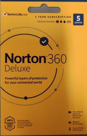 NORTON 360 DELUXEpro 5 zařiz. na 1rok + Dr.Max Multivitamin Energy 100 tablet, 21409796