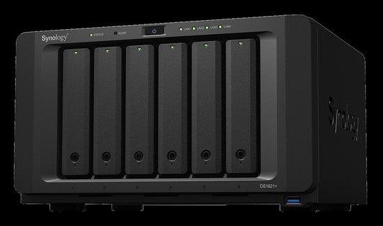 Synology DiskStation DS1621+, 6-bay NAS, CPU QC AMD Ryzen V1500B 64bit, RAM 4GB, 3x USB 3.0, 2x eSATA, 4x GLAN, 1x PCIe, DS1621+