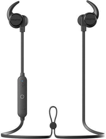 CREATIVE OUTLIER ACTIVE V2 černé BLACK bluetooth sluchátka do uší (pecky) bezdrátové, s mikrofonem