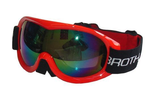 BROTHER B259-CRV Lyžařské brýle s dvojsklem,červené, červená
