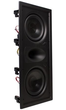 "TRUAUDIO Ghost GHT-66P - In-wall reproduktor LCR, výkon 125 W, 2x 6.5"" poly woofer, 8 ohm, bílý a černý kryt"