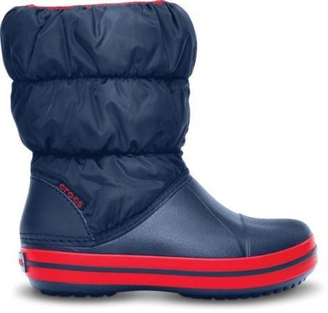 Crocs Winter Puff Boot Kids 23 (C6) / Navy/red