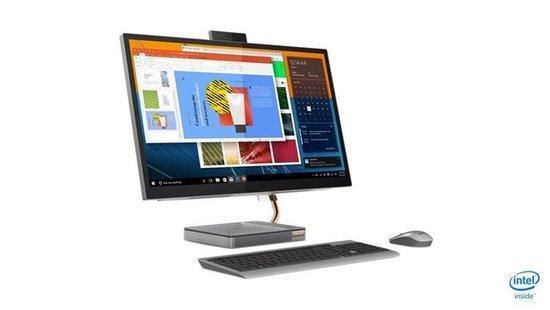 "Lenovo IdeaCentre AIO 5 27IMB05 i5-10400T 3,60GHz/8GB/SSD 512GB/27"" QHD/IPS/250nitů/WIN10 stříbrná, F0FA0043CK"