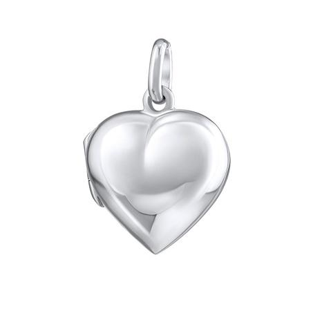 Stříbrný medailon otevirací srdce 17 mm