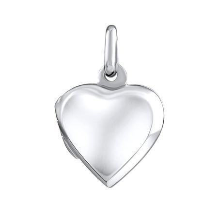 Stříbrný medailon otevirací srdce 15 mm