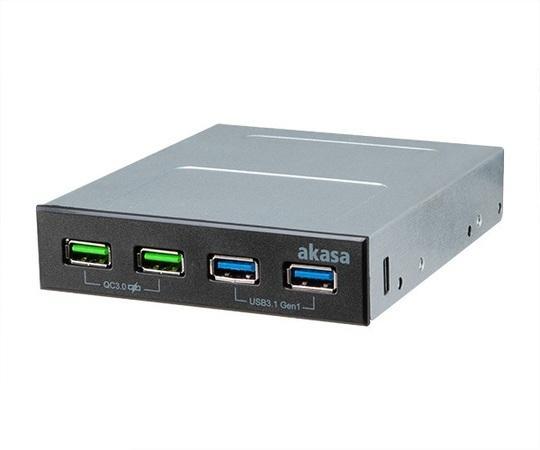 AKASA USB hub 2 x Quick Charge 3.0 + 2 x USB 3.1