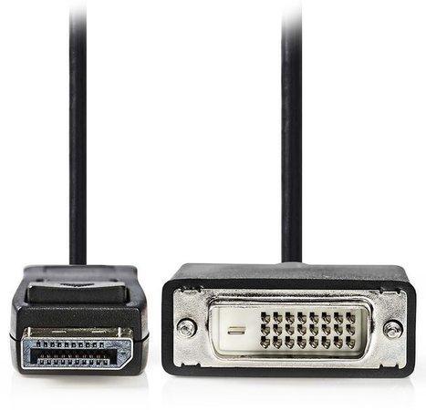 NEDIS kabel DisplayPort - DVI/ DisplayPort zástrčka - DVI-D 24+1-pin zástrčka/ černý/ 3m