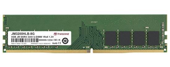 DIMM DDR4 8GB 3200Mhz TRANSCEND U-DIMM 1Rx16 1Gx16 CL22 1.2V