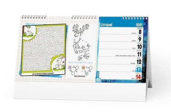 Stolní kalendář - Kreativní kalendář pro děti, BALOUŠEK