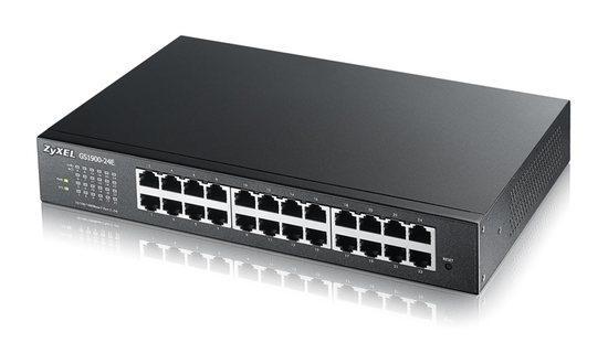 Zyxel GS1900-24Ev2, 24-port Desktop Gigabit Web Smart switch: 24x Gigabit metal, IPv6, 802.3az (Green), GS1900-24E-EU0102F