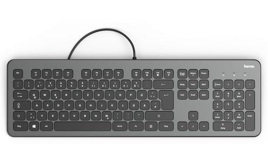 Hama klávesnica KC-700, antracitová/čierna, 182652