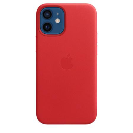 Kryt na mobil Apple Leather Case s MagSafe pro iPhone 12 mini - (PRODUCT)RED