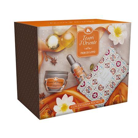 Tesori d´Oriente Lotus Flower - EDP 100 ml + tělový krém 300 ml + dárková taštička