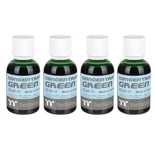 THERMALTAKE koncentrát zelená (4x 50ml) pro výrobu C1000 chladicí kapalina (Opaque Coolant, Green, neprůhledná), CL-W163-OS00GR-A