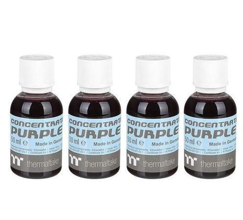 THERMALTAKE koncentrát fialová/nachová (4x 50ml) pro výrobu C1000 chladicí kapalina (Opaque Coolant, Purple, neprůhledná), CL-W163-OS00PL-A