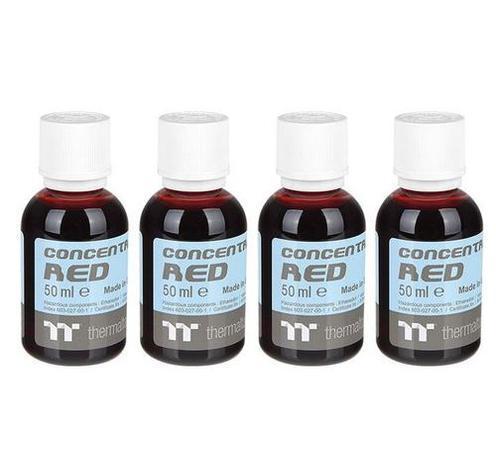 THERMALTAKE koncentrát červená (4x 50ml) pro výrobu C1000 chladicí kapalina (Opaque Coolant, Red, neprůhledná)