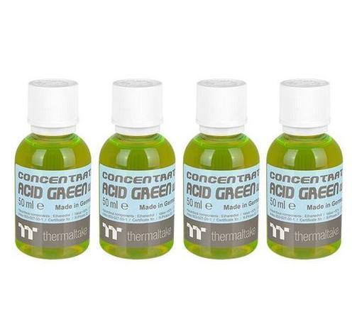 THERMALTAKE koncentrát kyselá zelená (UV) (4x 50ml) pro výrobu C1000 chladicí kapalina (Opaque Coolant, Acid Green (UV), neprůhledná), CL-W163-OS00AG-A