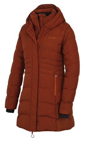 Husky Dámský hardshell plněný kabátek Normy L hnědá M