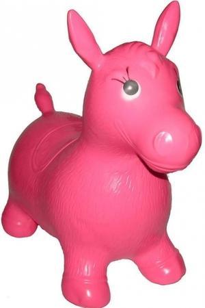 Artyk Gumový skákající oslík Edu & Fun - růžový